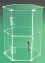 "12 1/2""H Hexagon Display Case with No Shelves"