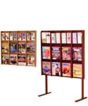 12 or 24 Pocket Oak Brochure or Magazine Rack