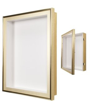 22 X 28 X 4 Deep Metal Frame Shadow Box Wmelamine Back