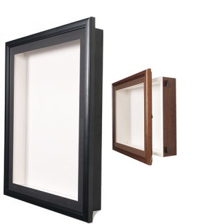 36 x 36 x 4 deep wood frame shadow box wmelamine back