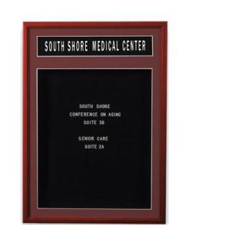 24 W X 36 W Wood Frame 1 Door Enclosed Letter Board W Header