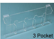 "3 Pocket Slatwall Brochure Holder for 4""W x 9""H"