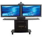 "32""H Metal Flatscreen Cart w/TT-2 for 2 LCD"