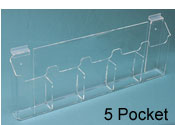"5 Pocket Slatwall Brochure Holder for 4""W x 9""H"