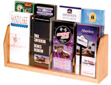 8 Pocket Oak Countertop Brochure Display