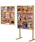 9 or 18 Pocket Oak Brochure or Magazine Rack