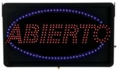 ABIERTO - Large LED Indoor Sign