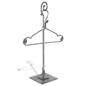 Aaron Contemporary Raw Steel - Adjustable Countertop Hook Stand