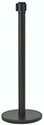 Black Stanchion Post w/Retractable Belt