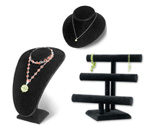 Black Velvet Jewelry Displays