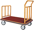 Brass Bellman's Luggage Cart