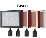 Brass Sign Frame 8 1/2