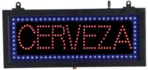 CERVEZA - Small LED Indoor Sign