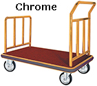 Chrome Bellman's Luggage Cart