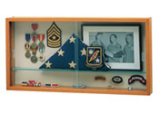 "30""w x 15""h x 3.5""d Flag/Memento Display Case"