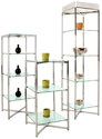 "37""H Folding Glass Tower - Chrome"