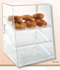 "Food Display Case 15""W x 17 1/4""H with 3 Trays - Rear Opening Door"