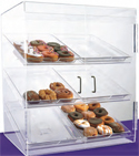 "Food Display Case 24""W x 28 1/2""H with 6 Trays - Front Opening Double Doors"