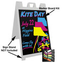 "Marker Board Kit - Black - 24""W x 36""H"