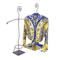 Aaron Contemporary Raw Steel - Blouse Displayer with Scroll Top