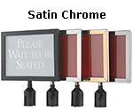 Satin Chrome Sign Frame 8 1/2
