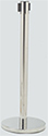 Satin Chrome Stanchion Post w/Retractable Belt