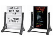 Sidewalk Message Boards with Aluminum Frame