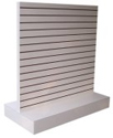 Slatwall Inverted T Gondola w/Base - Melamine Finish - No Inserts