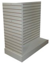 Slatwall T Gondola w/Base - High Pressure Laminate Finish - No Inserts