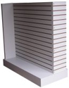Slatwall Z-Shaped Gondola w/Base - Melamine Finish - No Inserts