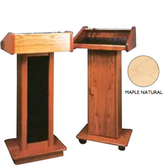 Wooden Lectern - No Sound - Maple w/Lacquer