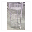 3 Tier Wire Bin - White