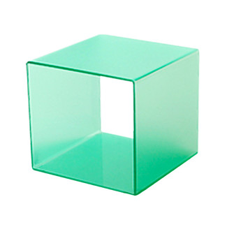 "10"" x 10"" x 10"" Green Frosted 4-Sided Display Cube"