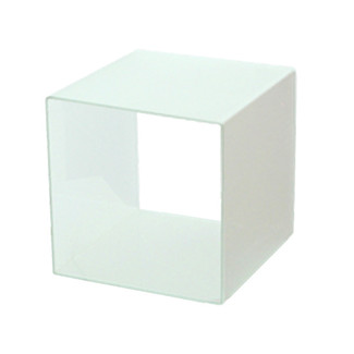 "10"" x 10"" x 10"" White Frosted 4-Sided Display Cube"