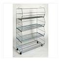 4 Tier Stacking Wire Bins