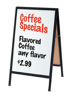 A Frame Sign Board W Black Acrylic Writing Surface