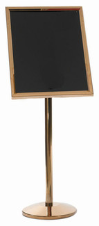 Menu & Poster Display Stand w/BRASS Frame 20