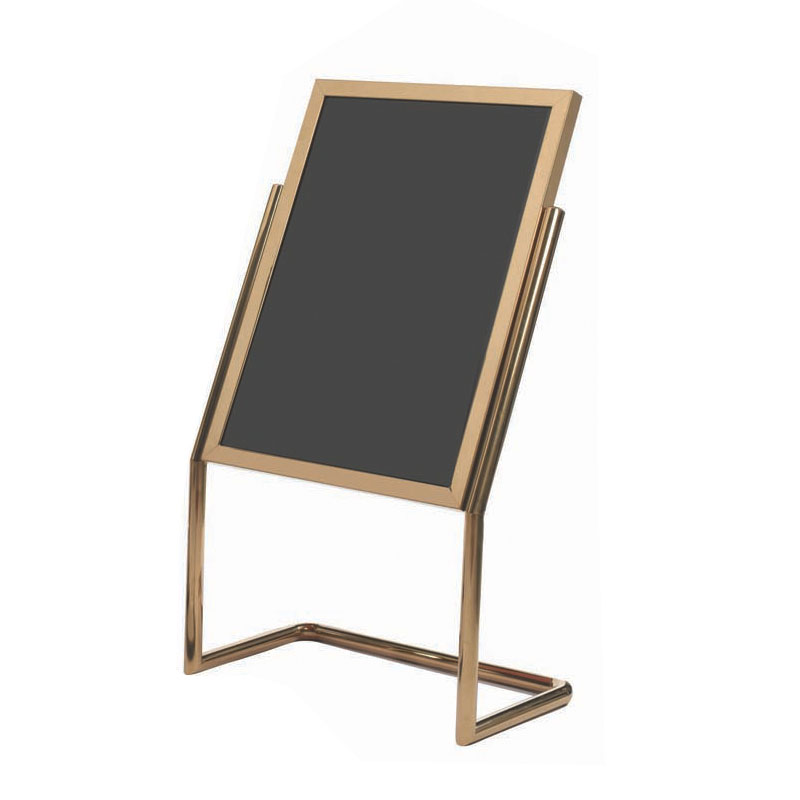 Menu & Poster Display Stand w/BRASS Frame 30\