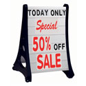 Deluxe Rolling A-Frame White Double Sided Sidewalk Changeable Letterboard Sign
