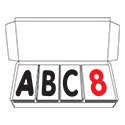 "Deluxe Letter Set - 4""H Black & Red Characters"