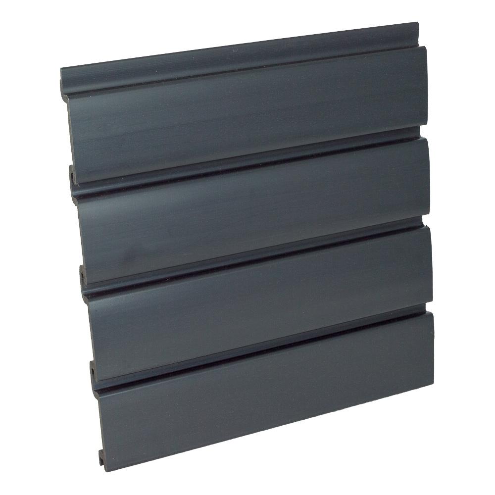 Graphite Plastic Slatwall Panel Vertical 48 Quot W X 96 Quot H