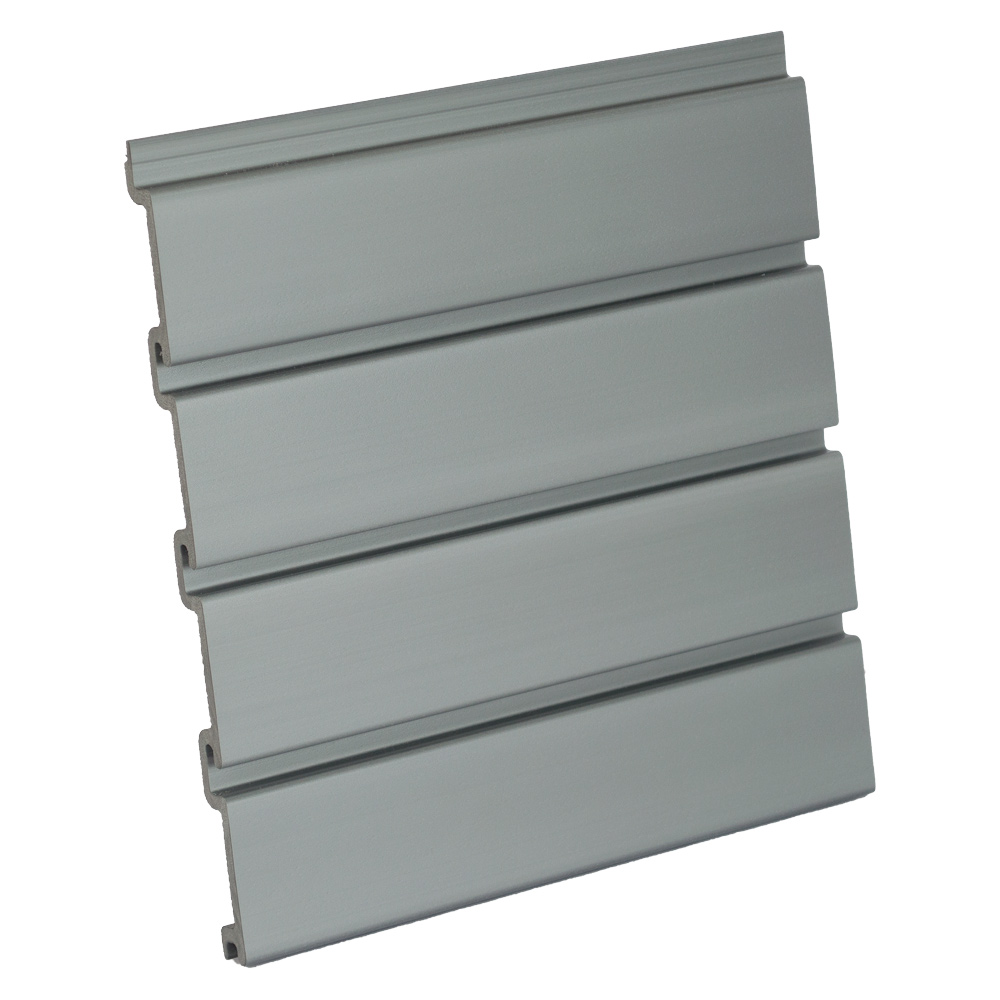 Silver Plastic Slatwall Panel Vertical 48 W X 96 H