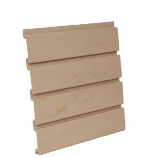 Maple Plastic Slatwall Panel Vertical 48 W X 96 H