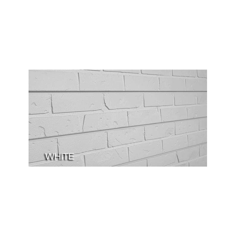 2 39 h x 8 39 l textured wall panel brick white finish - Textured brick wall panels ...