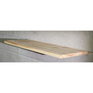 "12"" Long Wood Magic Slatwall Shelf w/Hidden Bracket  - Natural Pine"