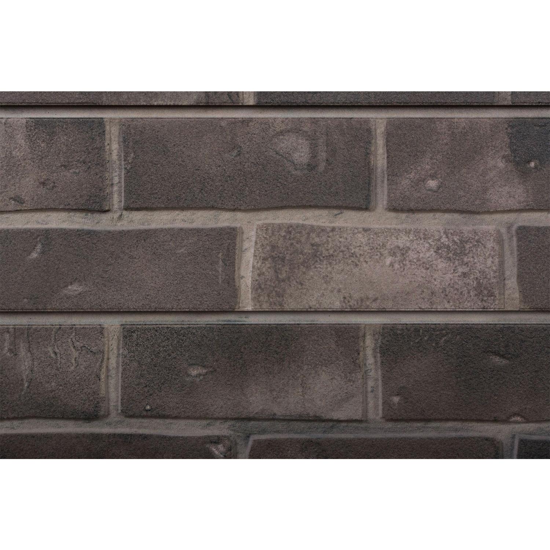2 39 h x 8 39 l textured wall panel brick grey finish - Textured brick wall panels ...