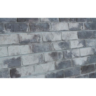 2H x 8L Textured Wall Panel Brick Old Paint Grey Finish