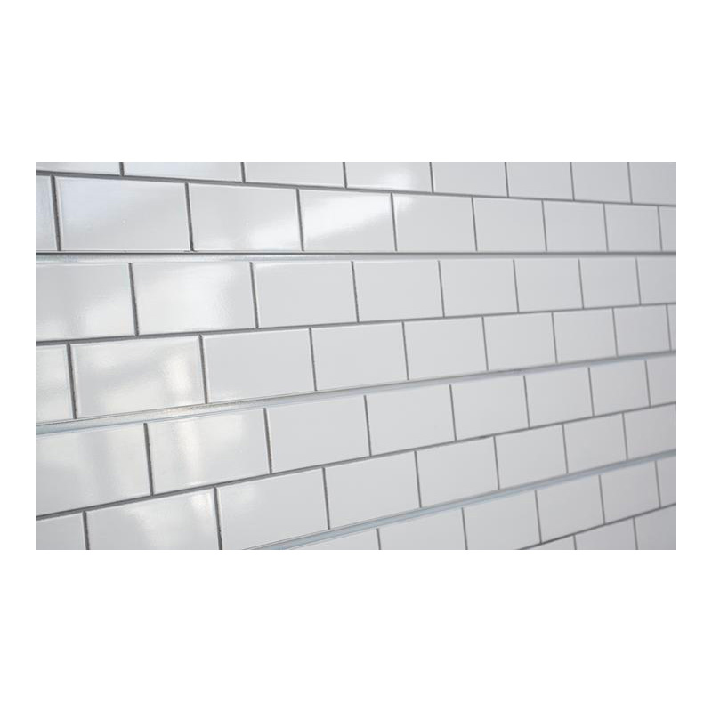 2h X 8l Textured Wall Panel Subway Tile White Finish
