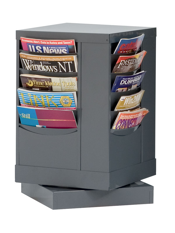 20 Pocket Rotating Metal Literature Rack