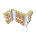"Aluminum Inside/Outside Corner Trim 1"" x 1"" x 96"" Long, Mill Finish"